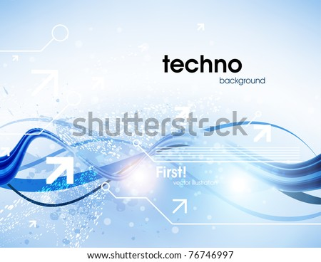 Technology web background/banner for business design. Vector Eps 10. - stock vector