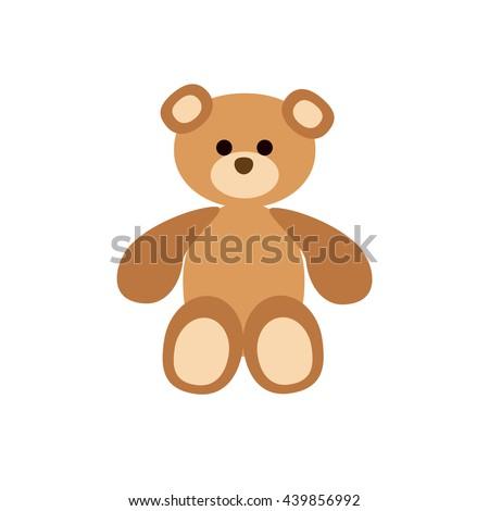 teddy bear flat icon vector baby stock vector royalty free