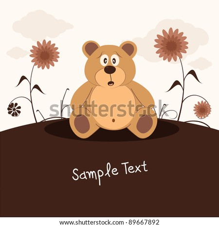 Teddy bear, vector illustration