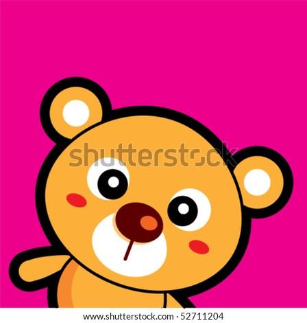 teddy tag - stock vector