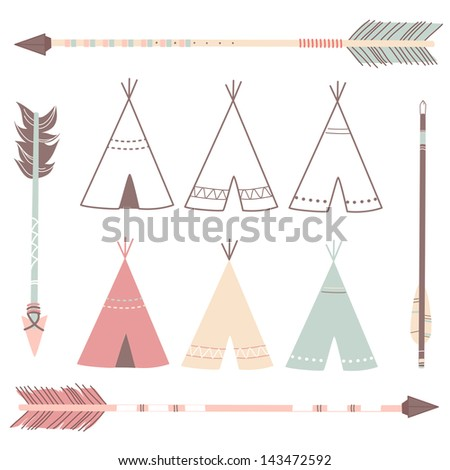 Teepee Tents and arrows - hipster style  sc 1 st  Shutterstock & Teepee Tent Stock Images Royalty-Free Images u0026 Vectors | Shutterstock