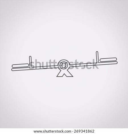 teeter  icon - stock vector