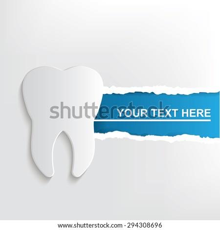 Teeth banner design, clean vector - stock vector