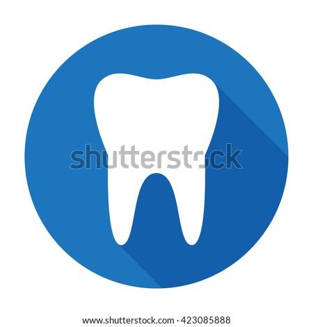 Teeth Icon Dentist Flat Vector Signsymbol Stock Vector 423085888