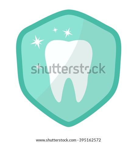 Teeth whitening icon - stock vector