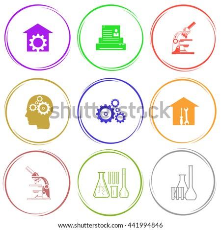Tehnology set. Internet button. Vector icons. - stock vector