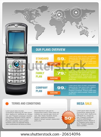 Telecom provider brochure - stock vector