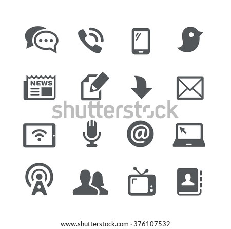 Telecommunications Icons // Utility Series - stock vector