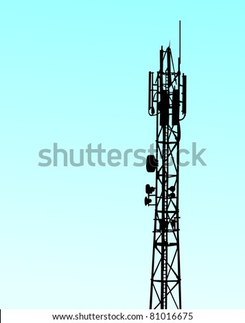 telecommunications tower - stock vector