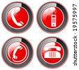 Telefon - Buttons - stock vector