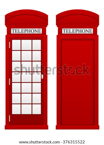 Telephone box on a white background. - stock vector