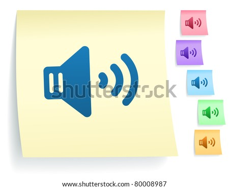 Telephone Icon on Paper Note Collection Original Illustration - stock vector
