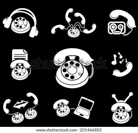 Telephone Icons - stock vector