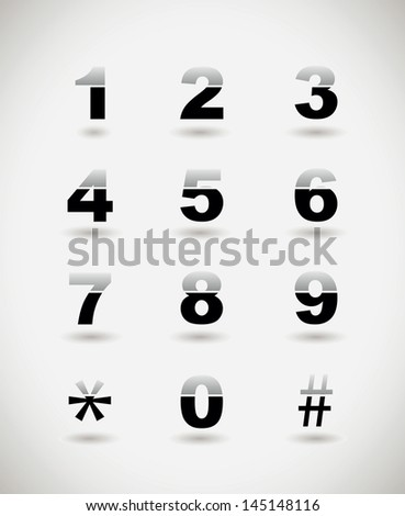 telephone numbers - stock vector