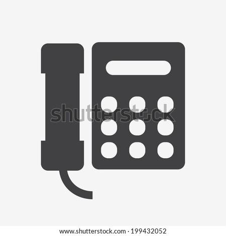 Telephone on white background - stock vector