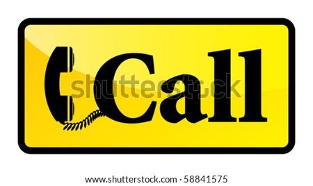 Telephone sign, vector illustration - stock vector
