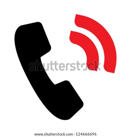 Telephone signal icon - stock vector