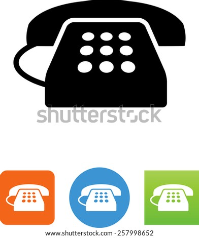 Telephone symbol for download. Vector icons for video, mobile apps, Web sites and print projects.  - stock vector