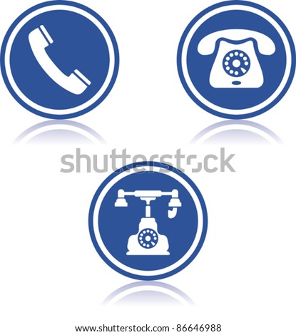 Telephones - Vector icons - stock vector