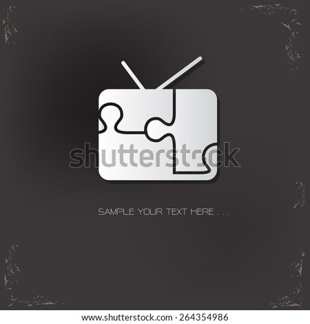 Television design,vector logo design template - stock vector