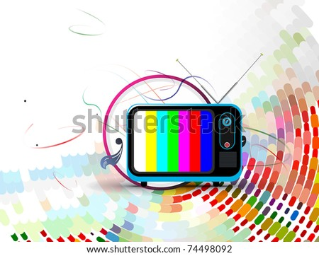 television illustration of abstract circle theme vector background. - stock vector