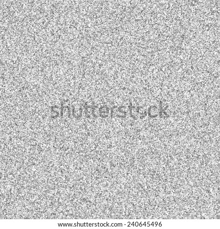 Television interference. Gray noise on tv screen. Black and white glitch grunge texture. - stock vector
