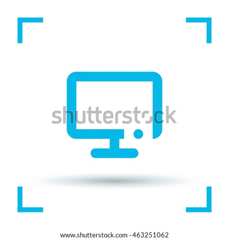 Television isolated minimal single flat icon. Technology line vector icon for websites and mobile minimalistic flat design.