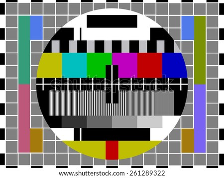 Television Test Card - stock vector