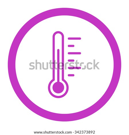 Temperature Level vector icon. Style is flat rounded symbol, violet color, rounded angles, white background.