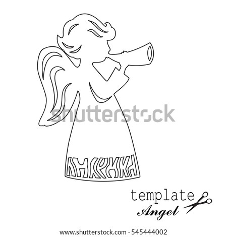 Paper angel stock images royalty free images vectors for Angel decoration template