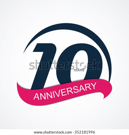 Template 10 Anniversary Vector Illustration EPS10 - stock vector