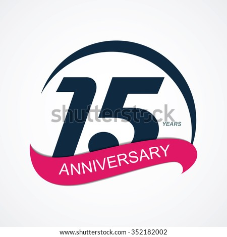 Template 15 Anniversary Vector Illustration EPS10  - stock vector