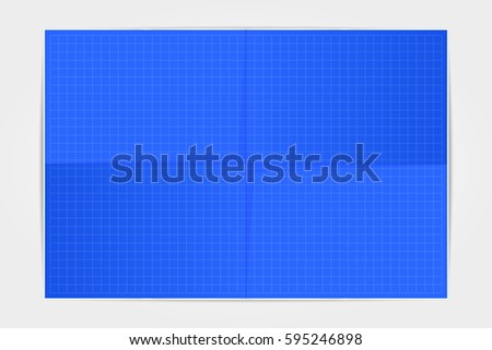 Template blueprint sheet paper folded four stock vector 595246898 template blueprint sheet of paper folded in four on a white background vector illustration malvernweather Images