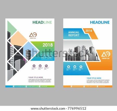 Template Brochure Flyer Poster Cover Annual Stock Vector 776996512