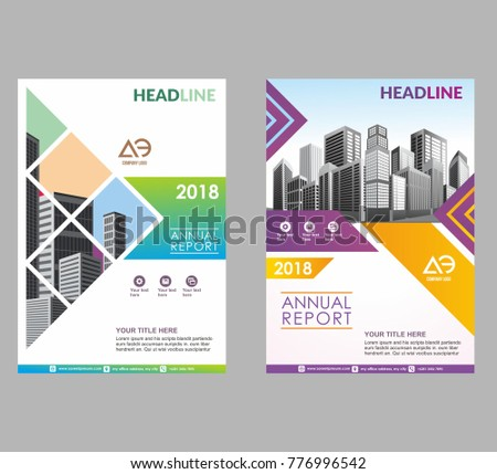 Template Brochure Flyer Poster Cover Annual Stock Vector 776996542