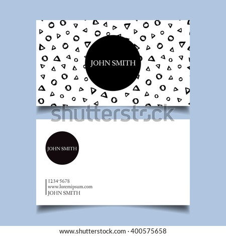 Template business card editable neat black stock vector 400575658 template business card editable neat black and white background circles triangles colourmoves