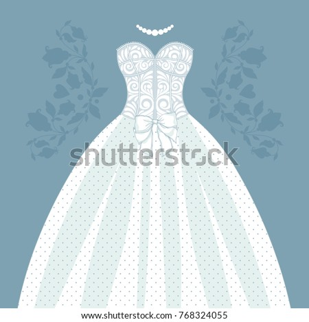 Template Cards Invitations Wedding Dress Can Stock Vector 768324055