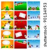 template christmas background - stock vector