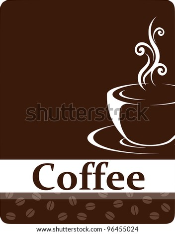 Template design of menu, business card, banner, advertisement, street sign for coffee shop and restaurant. Cup of hot drink (coffee, tea etc). With copy space - stock vector