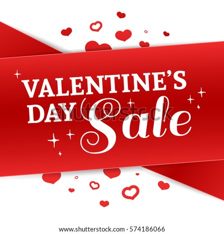 Happy Valentine S Day Brochure With Decoration Red Tape For Sale