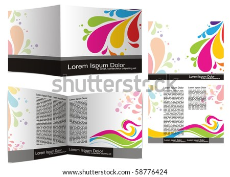 Template designs for your brochure and booklet , vector illustration - stock vector