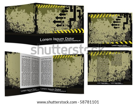 Template designs for your flyer project, vector illustration - stock vector