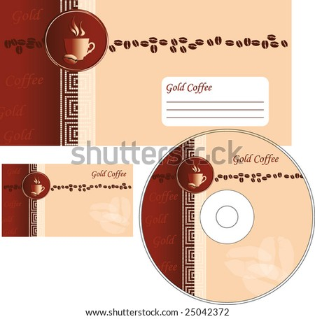 Template designs of corporate style for coffee shop and restaurant - stock vector