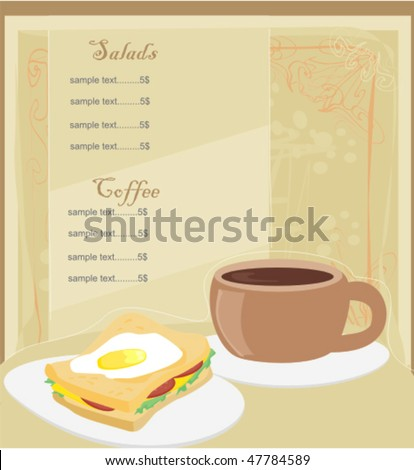 Template designs of menu coffee shop and restaurant - stock vector