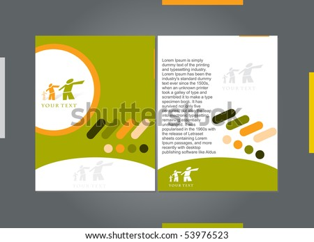 Template designs of menu with best used of your flyer project, vector illustration