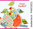 Template Easter greeting card, vector illustration - stock photo