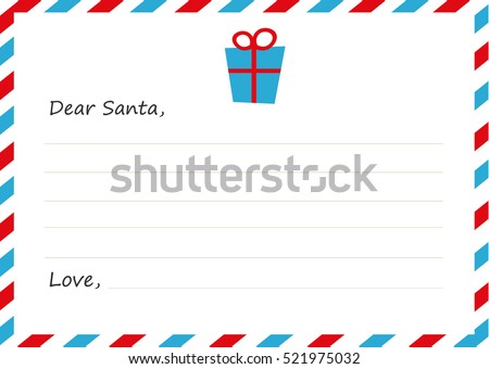 Template envelope new years letter santa stock vector 521975032 template envelope new years letter to santa claus icon gift vector illustration flat spiritdancerdesigns Image collections