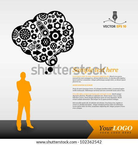 Template for advertising - stock vector