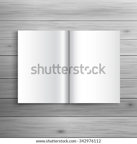 Template for advertising and corporate identity. Folded brochure. Blank mockup for design. Vector white object - stock vector