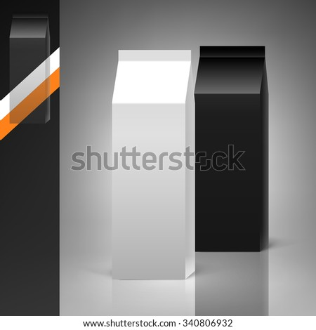 Template for advertising and corporate identity. Package. Cardboard box. Blank mockup for design. Vector white object - stock vector